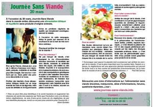 Tract Journée Sans Viande