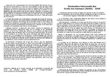 Tract Pour une véritable déclaration universelle des droits des animaux (A4)