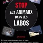 Affiche Stop aux Animaux dans les Labos