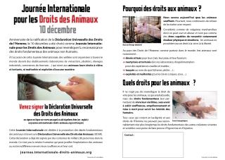 Tract Journée Internationale Droits des Animaux (avec zone tampon)