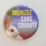 Nouveau badge Bronzez Sans CRUAUTÉ