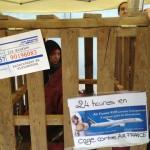 Grève de la faim contre la vivisection