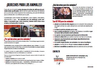 Tract droits des animaux (en espagnol)