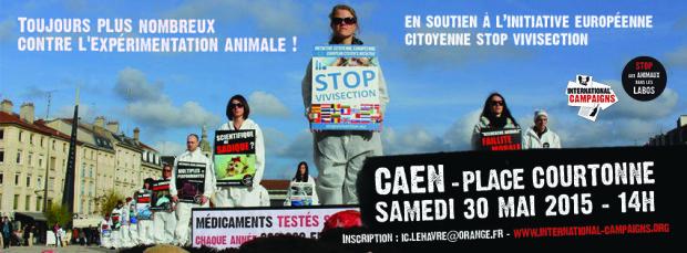 Happening Stop aux animaux dans les labos à Caen