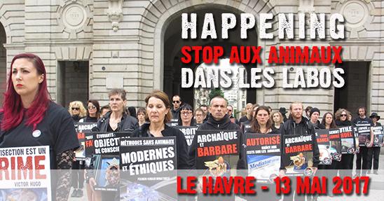 Happening STOP aux animaux dans les labos Le Havre