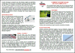 Tract Comment devenir vegan