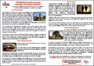 Tract Pourquoi devenir vegan