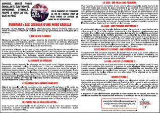 Tract Fourrure : les dessous d'une mode cruelle