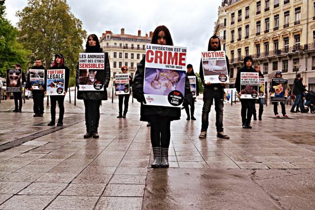 Lyon - 23 avril 2016 - Journée Mondiale des Animaux dans les laboratoires