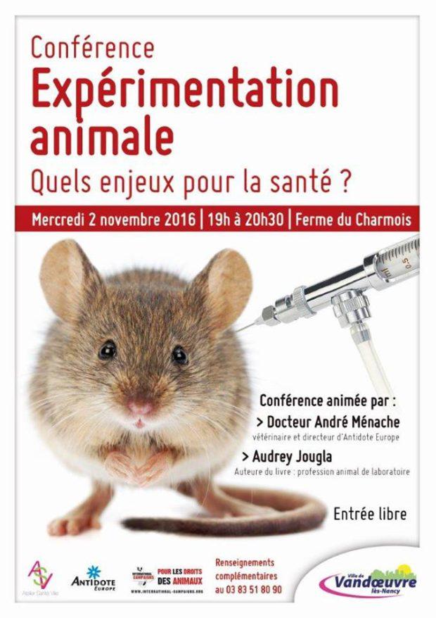 """Nancy - Conférence : Expérimentation animale """" Quels enjeux pour la santé"""