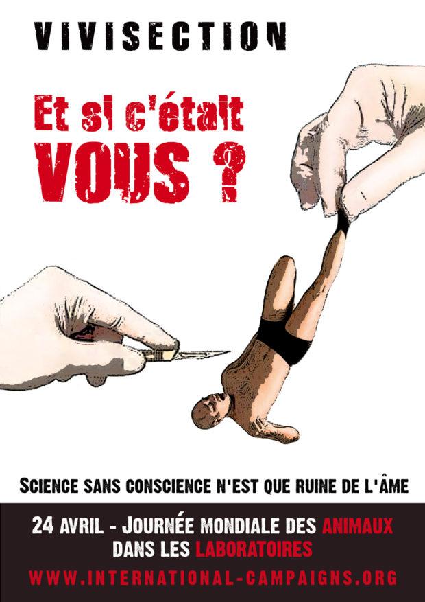 Amiens – 22 avril 2017 – Journée Mondiale des Animaux dans les Laboratoires