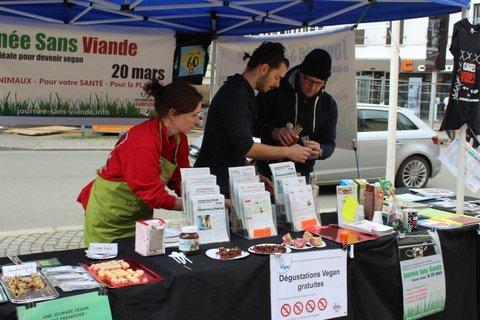 Evreux - Journée Sans Viande - Stand - Samedi 24 mars 2018