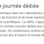 L'INA et la Journée Mondiale des Animaux dans les laboratoires